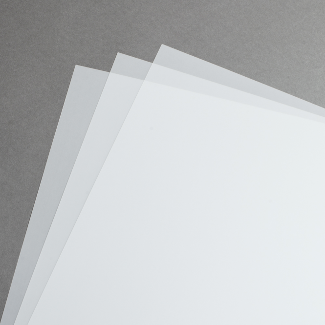 Transparent matte Polyesterfolie 110 µ