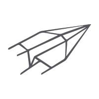 Cartes de papier fait main 118,5 x 118,5 mm double