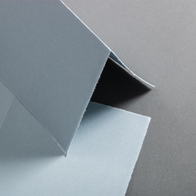 Büttenkarten hochdoppelt  French Blue 113 x 175 mm