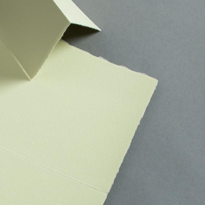 Büttenkarten hochdoppelt Green Tea 115 x 170 mm