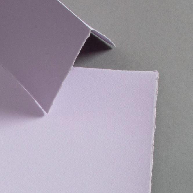 Büttenkarten hochdoppelt Lavender 115 x 170 mm