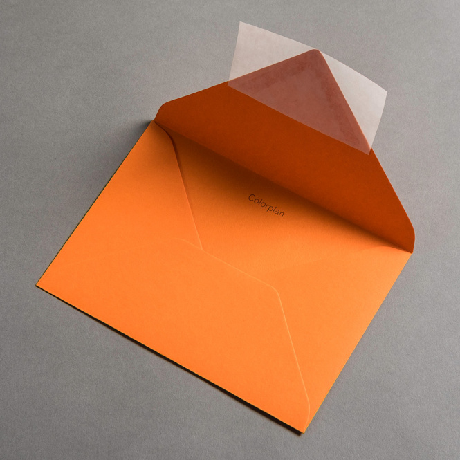Colorplan Hüllen DIN B6 spitze Klappe Orange