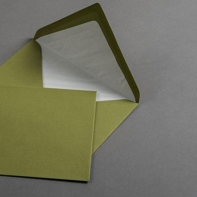 Buste vergata verde oliva DIN B6