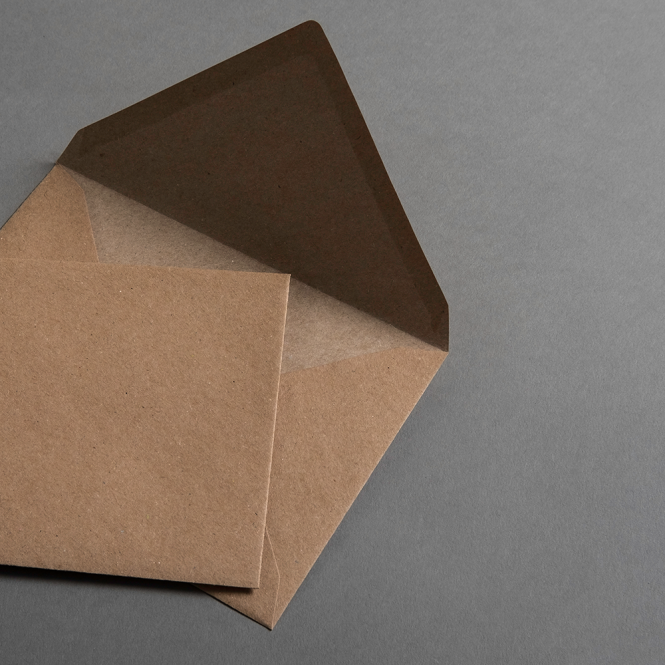 Kraftpapier Muskat Briefumschläge C6 nassklebend 25 Stück