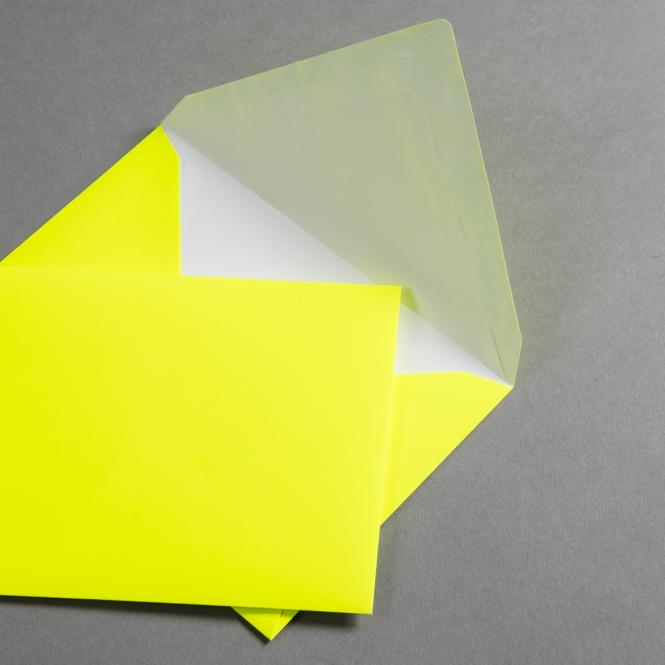 Ultra Neon Hüllen DIN C6 - Neon Gelb