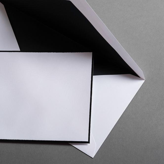 Buste DIN lang lettera di condoglianze
