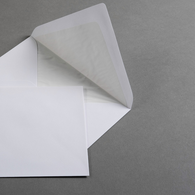 Enveloppes blanc  DIN B6 avec doublure