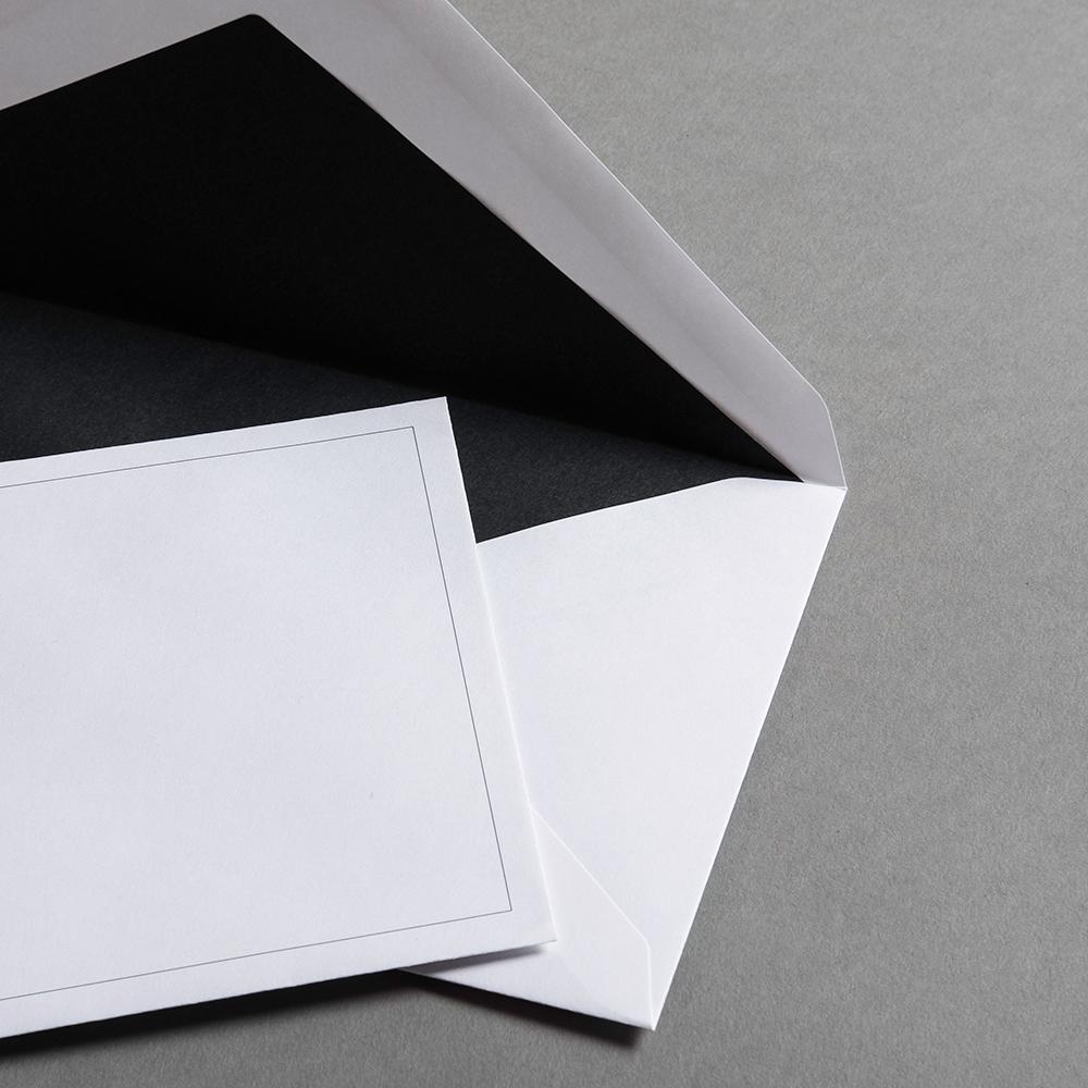 Trauerhüllen DIN lang mit feiner aufgedruckter Linie | Papier Direkt