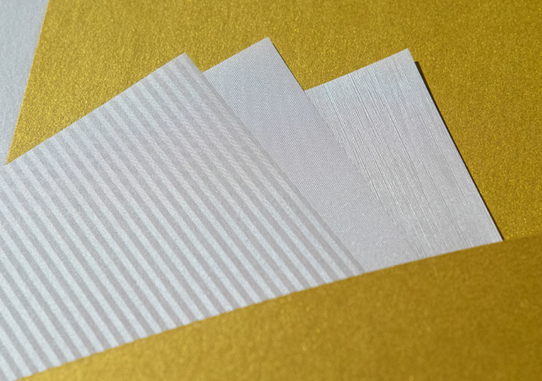 how to create metallic effect on paper