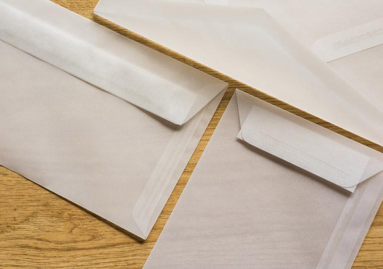 transparente-Briefumschläge